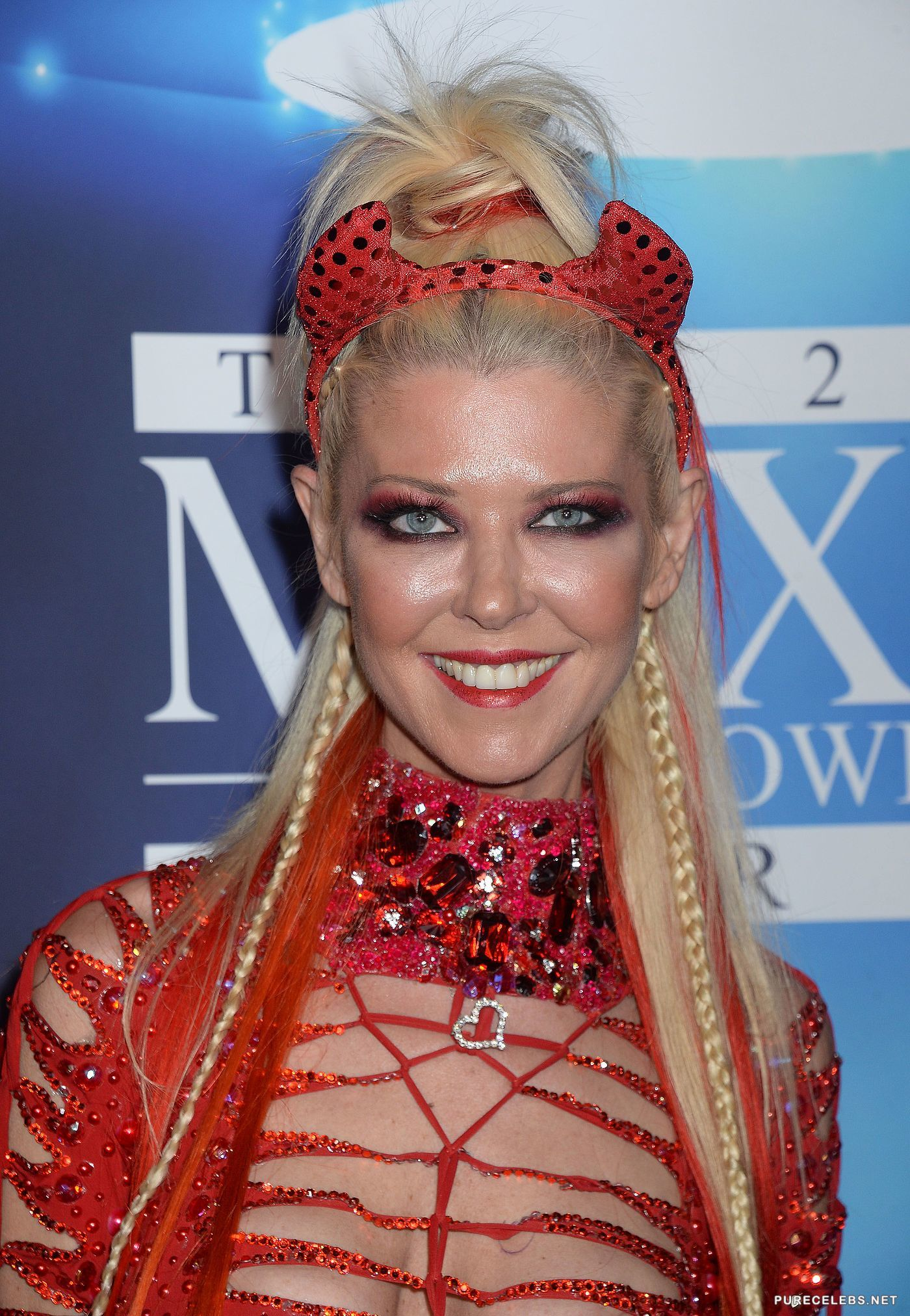 Tara Reid Looking Sexy In A Red At Maxim Halloween Party - NuCelebs.com