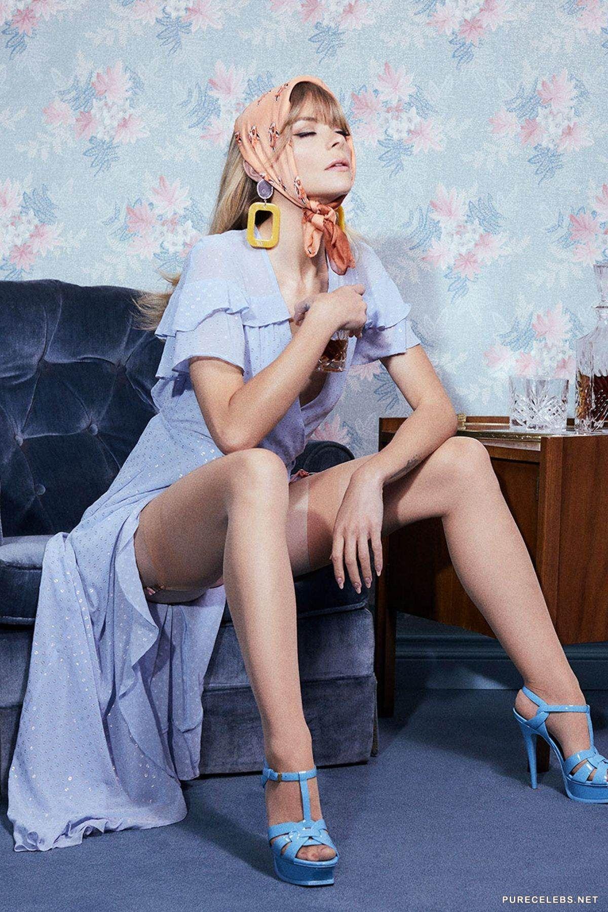 Jaime King Posing Sexy In Lingerie For Los Angeles Fashion Brand - For Love & Lemons - NuCelebs.com