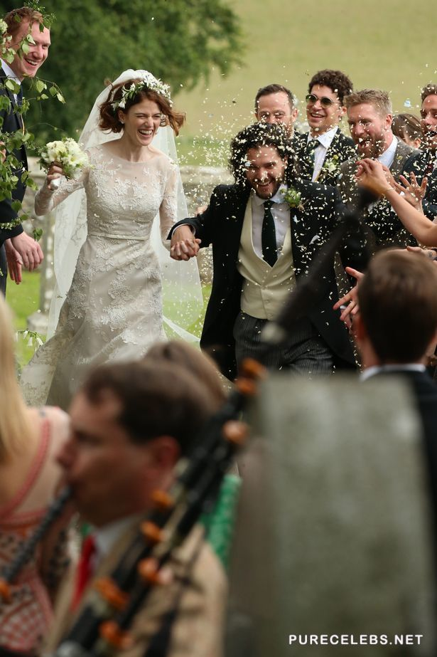 Rose Leslie And Kit Harington Wedding Pictures With Their Sexy Guests - NuCelebs.com