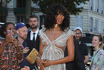 Naomi Campbell flashes nipples in sheer Valentino gown on