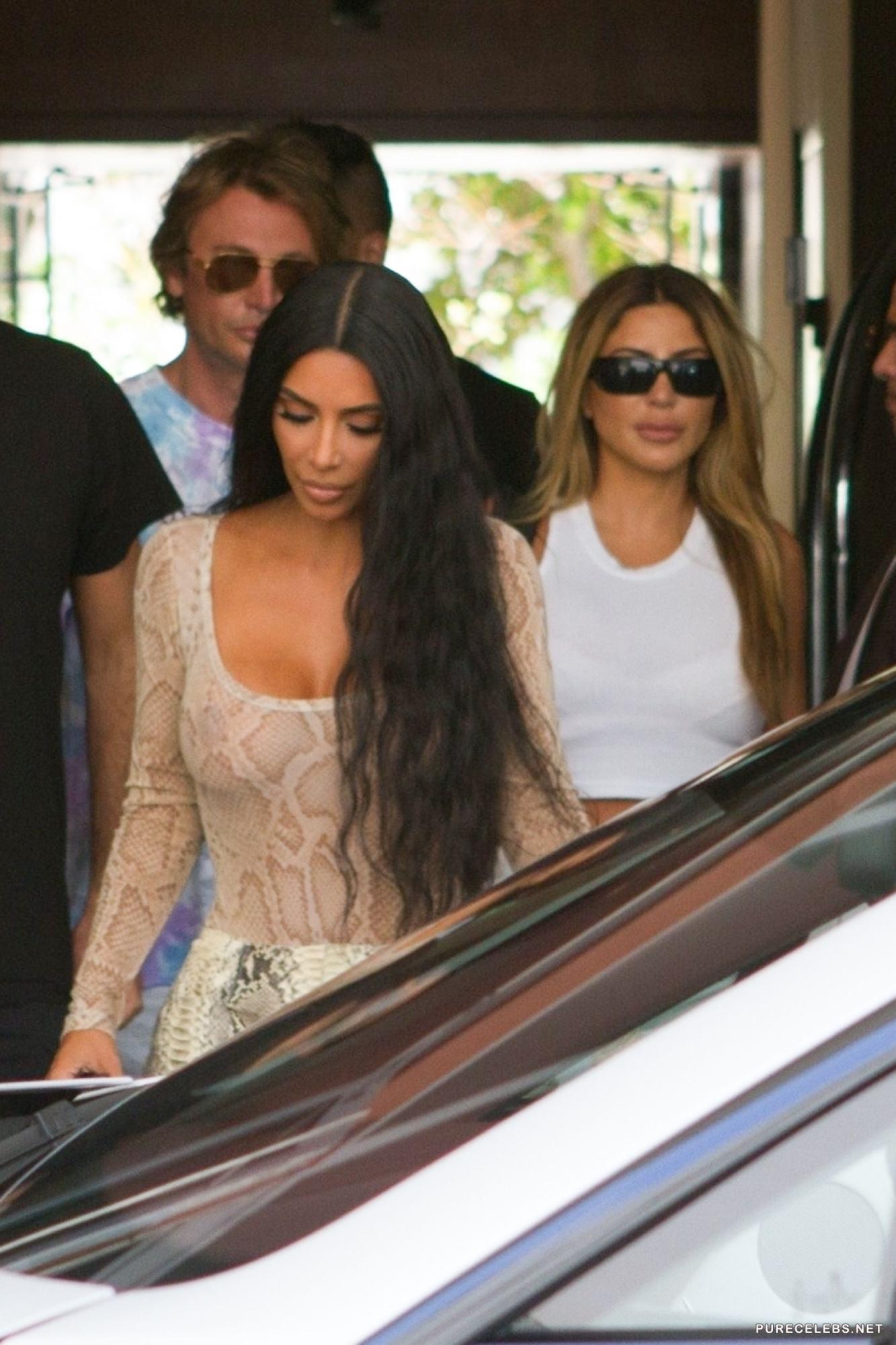 Kim Kardashian See Through And Micro Bikini Photos