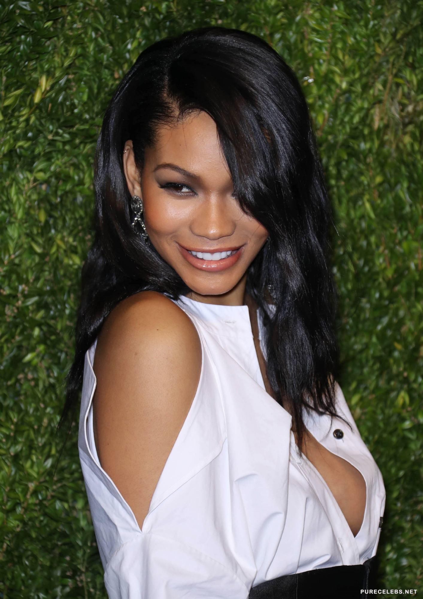 Chanel Iman Paparazzi Nipple Slip Shots - NuCelebs.com