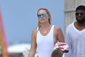 Lindsey Vonn See Through And Thong Swimsuit Shots