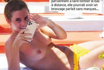 Emma Watson naked topless