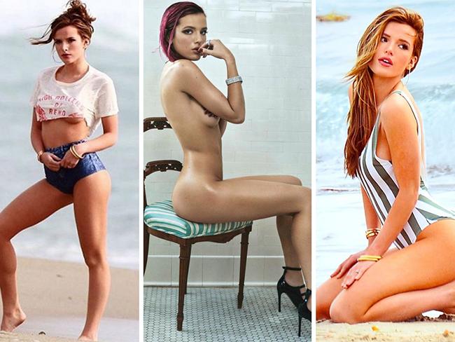Bella Thorne nude topless