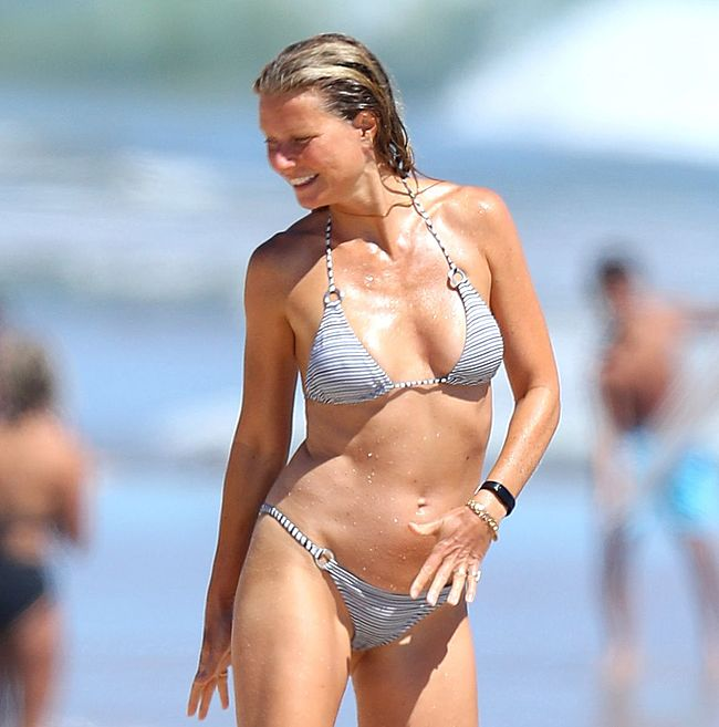 Gwyneth Paltrow cameltoe bikini