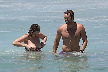 Abbie Chatfield nude on a beach