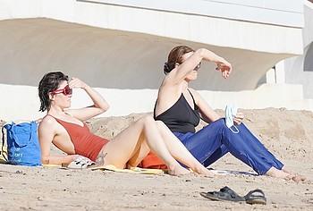 Charlotte Simpson sunbathing