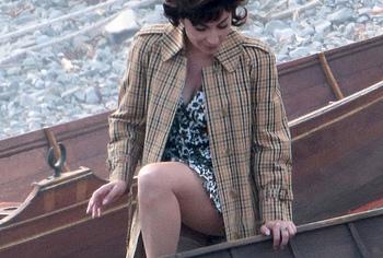 Lady Gaga leggy