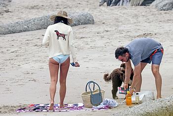 Jordana Brewster ass on beach