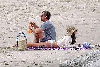 Jordana Brewster sunbathing