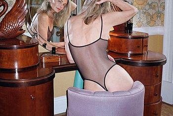 Paulina Porizkova lingerie