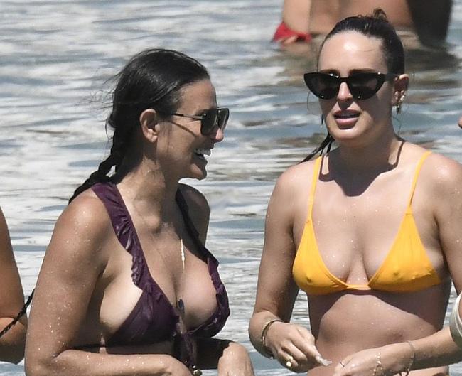 Demi Moore topless