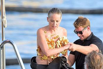 Sharon Stone paparazzi